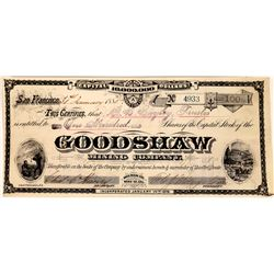 Goodshaw Mining Company Stock, Bodie with Grafton T. Brown Lithographer  (123555)