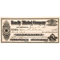 Handly Mining Company Stock, Bodie   (123556)