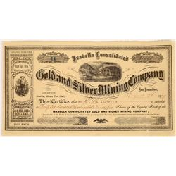 Isabella Consolidated Gold and Silver Mining Company Stock for 31,995 Shares, Bodie  (123554)