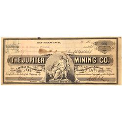 Jupiter Mining Company, Bodie Stock signed by A. J. Ralston  (123520)
