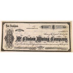 Mt. Clinton Mining Company Stock with African American G. T. Brown Lithograph  (123522)