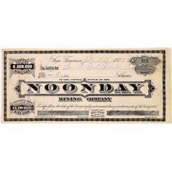 Noonday Mining Company Stock  (123538)