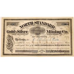 North Standard Gold and Silver Mining Company Stock, Bodie  (123553)