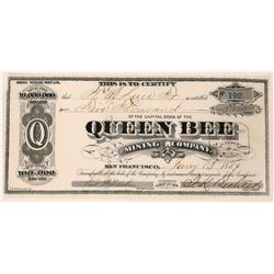 Queen Bee Mining Company Stock  (123531)