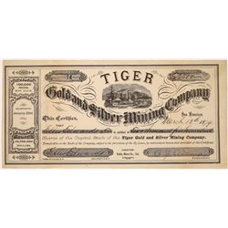 Tiger Gold and Silver Mining Company Stock Certificate, Bodie, California  (123549)