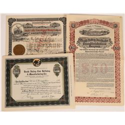 Three Different Death Valley Mining Certificates (2 Stocks, 1 Bond)  (109279)