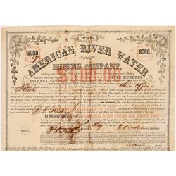American River Water & Mining Co. Bond (Gold Rush)  (126079)