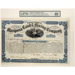 Mariposa Land & Mining Company Stock, Graded Extra Fine  (123673)