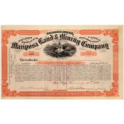 Mariposa Land & Mining Company of California Common Stock Certificate  (123668)