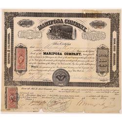 Mariposa Company Stock Certificate  (126235)