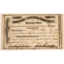 Merced Mining Company, Proprietor's Stock, Mariposa, California  - Extra Rare(126744)