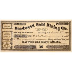 Deadwood Gold Mining Company Stock - Willow Valley District, Nevada City, CA   (123669)