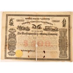 Washington City & Mining Company Stock Certificate  (120893)