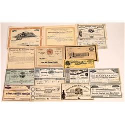 California Unissued Mining Stock Collection  (109306)