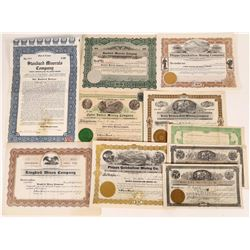 Group of California Mining Stock Certificates  (109269)