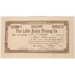 Little Annie Mining Co. - Roaring Fork (Aspen) Mining District, Pitkin County, Colorado  (123583