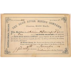 Blue River Mining Company Stock, Colorado Territory - Early!  (123647)