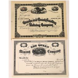 Leadville Mining Stock Pair: The Queen and Omaha and Grant Smelting and Mining  (123645)