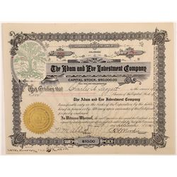 Adam & Eve Investment Company Stock Certificate  (126002)