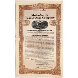 Moler-Smith Lead & Zinc Company $500 Bond  (109124)