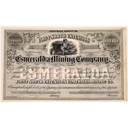 First North Extension Esmeralda Mining Co. Stock Certificate  (113786)