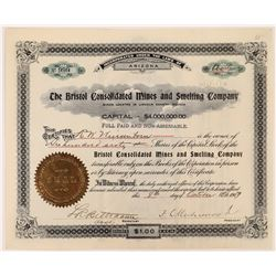 Bristol Consolidated Mines and Smelting Co. Stock Certificate  (113790)