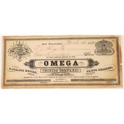 Omega Mining Company Stock Certificate  (113788)