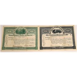 Two Different Gold Creek, Nevada Stock Certificates  (113799)
