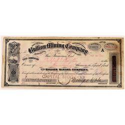 Bullion Mining Company Stock Certificate  (109304)