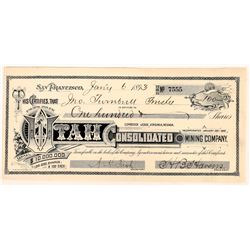 Utah Consolidated Mining Company Stock Certificate  (109303)