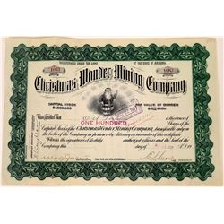 Christmas Wonder Mining Company Stock Certificate  (109326)