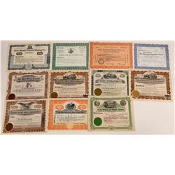 Eleven Different Nevada Mining Stock Certificates  (113789)