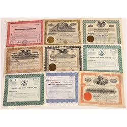 Nevada Mining Stock Collection (9)  (113793)