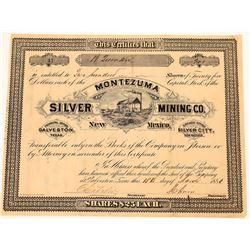 Montezuma Silver Mining Company Stock Certificate  (107993)