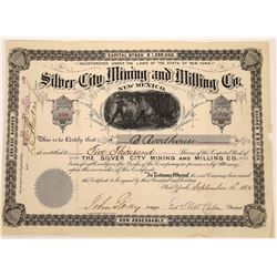 Silver City Mining and Milling Company Stock, New Mexico  (123653)