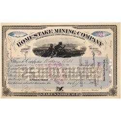 Homestake Mining Company Stock Certificate - Lead, South Dakota -Signed by Lloyd Tevis