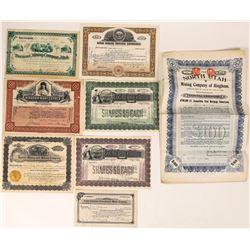 Utah Mining Stock Certificate Group  (109309)