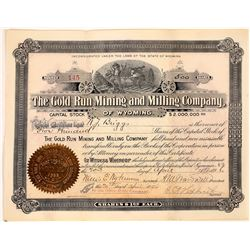 Gold Run Mining and Milling Company Stock Certificate  (113784)