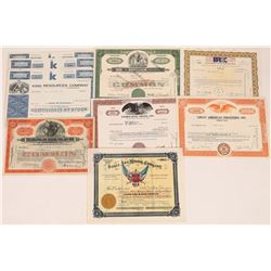 Miscellaneous Mining Stock Certificate Group  (126034)