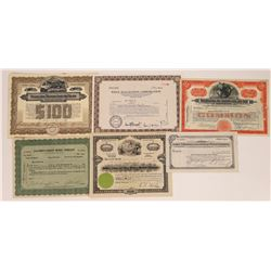 Six Different Mining Stock Certificates  (126033)