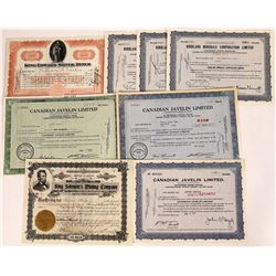 Group of Canadian Mining Stock Certificates  (109270)
