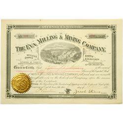 Eva Milling & Mining Co Stock, Durango, Mexico, 1891  (118710)