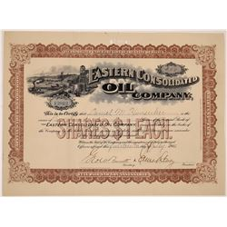 Eastern Consolidated Oil Company Stock Certificate  (126058)