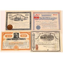 Four Good US Oil Stock Certificates  (107979)