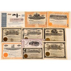 Pictorial Oil Stock Certificates (10)  (107981)