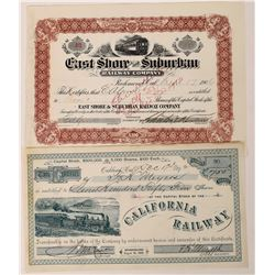 East Bay Railway Company Stocks  (123484)