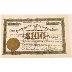 Chicago Raised Prismatic Light and Safety Car Heating Co. Stock Certificate  (107964)