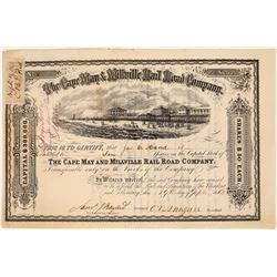 Cape May & Millville Railroad Company Stock Certificate  (126046)