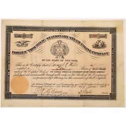 Forbes' Trochilic Stationary Steam-Engine Co. Stock Certificate  (126010)