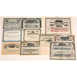 Different New York Railroad Stocks/Bonds (11)  (109252)